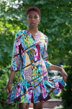 African Print Dresses, African Prints, African Dress, African Attire, African Wear, African Women, Work Fashion, Fashion Prints, Fashion Beauty
