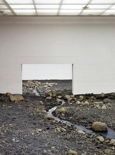 Riverbed by Olafur Eliasson. Installation shot Riverbed, 2014. Photography © Anders Sune Berg. Courtesy of Louisiana Museum of Modern Art, H...