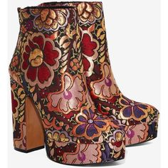 0e5a77d9845 Shellys London Chanah Brocade Bootie ( 220) ❤ liked on Polyvore featuring  shoes