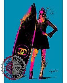 Amazon Craig Garcia CHANEL シャネルアートポスタ thing #thng A1 A2サイズ (A2, thng-03) アートフレーム・ポスター オンライン通販