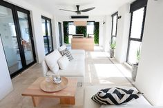 The Block Sky High: Room Reveal: Madi + Jarrod's terrace. Such a beautiful Mediterranean feel Room, House, Home, Outdoor Rooms, The Block Room Reveals, Outside Room, House Styles, Rooms Reveal, Lounge Room