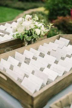 Elegant rustic escort cards: http://www.stylemepretty.com/vault/gallery/38040 | Photography: The Edges - http://theedgeswed.com/