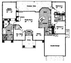 3962 - 3 Bedrooms and 2 Baths | The House Designers