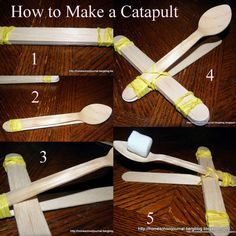 Roman Catapults, one my kids can make with almost no help