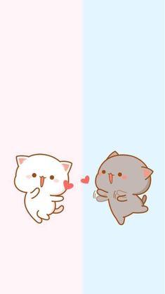 Wallpaper Gatos, Cat Wallpaper, Kawaii Wallpaper, Disney Wallpaper, Chat Kawaii, Kawaii Cat, Chibi Cat, Cute Chibi, Cute Cartoon Images