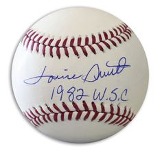 """Lonnie Smith Autographed Official MLB Baseball Inscribed """"""""1982 WSC"""""""""""