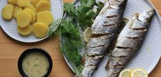 Pečený pstruh s citronem a bylinkami Fresh Rolls, Ethnic Recipes, Lemon