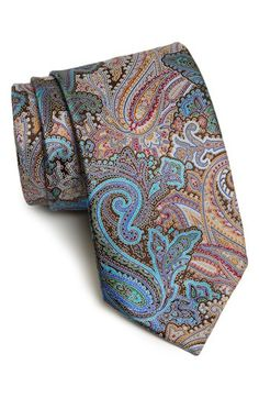 Ermenegildo Zegna 'Quindici' Print Silk Tie. These ties are engraved into 15 specially designed silk screens. These screens are hand carried to one of the last hand printers left in the world, located in the Lake Como region of Northern Italy, where vegetable, metallic, and pigment dyes are expertly used to color the silk.