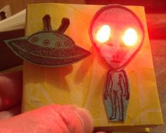 Picture of Paper Circuitry:  Light-Up Book with LEDs and a Switch