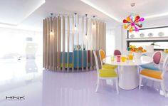 Cores são um dos elementos que definem os trabalhos do arquiteto Hamid Katrib Nicola. Neste apartamento, o interior contemporâneo ganha um ar de descontraç