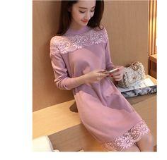 Inverno mulheres Outono Rendas Vestido de Malha Vestidos de Camisola Coreano Moda Solta Toda a Partida de Manga Comprida Oversize Malhas C674 em Vestidos de Das mulheres Roupas & Acessórios no AliExpress.com   Alibaba Group