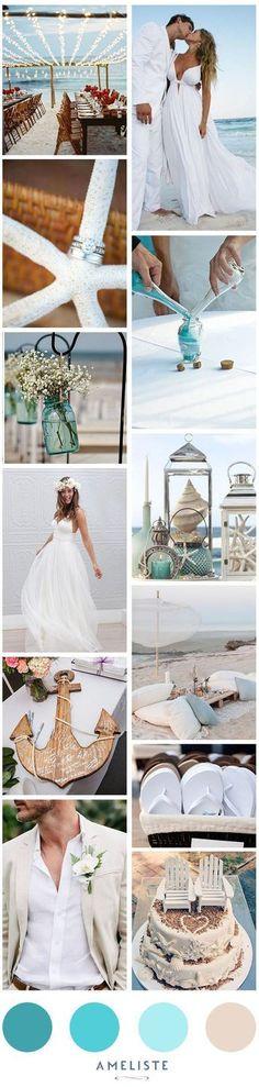 Beach Wedding // Mood Board Beach Wedding Party // Organiser son mariage à la plage #BeachWeddings