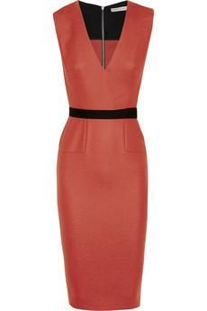 Victoria Beckham #fashion #style #dress belted stretch
