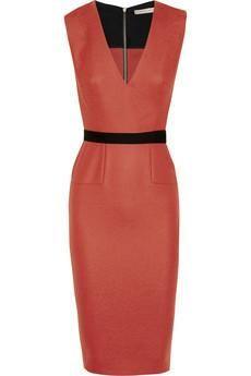 Victoria Beckham #fashion #style #dress belted stretch