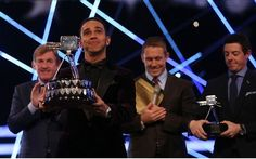 Presenter Gary Lineker (left) and Lewis Hamilton during the 2014 Sports Personality of the Year Awards Lewis Hamilton Wins, Sports Personality, Latest Sports News, Formula One, Bbc, Concert, Racing, Awards, Instagram