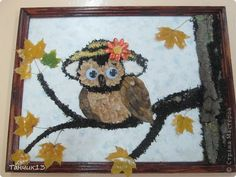 Картина панно рисунок День учителя Аппликация Осень и её подарки Материал природный