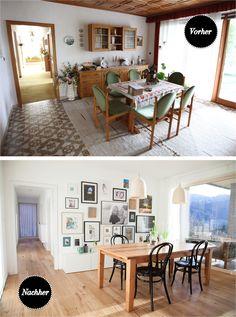Before and after: dining room | WOHN:PROJEKT - der Mama Tochter Blog für Interior, DIY, Dekoration und Kreatives : Vorher-Nachher: Das Esszimmer