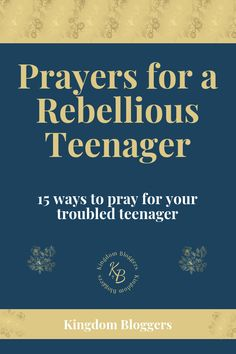 Do you know how to pray for a rebellious or troubled teen? These prayer prompts can help! Prayers For Teenagers, Prayer For Parents, Raising Teenagers, Bible Verse For Moms, Bible Verses, Scriptures, Raising Godly Children, Discipline Children, Deliverance Prayers