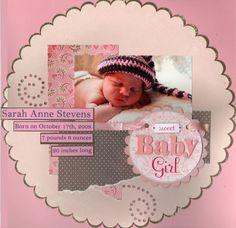 baby girl scrapbook layouts | Sweet Baby Girl - Scrapbook.com | Baby layouts : Girls