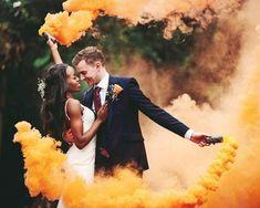 Smoke Bomb Couple Photos # Weddings couple How do I change my name after I get married? Pre Wedding Poses, Wedding Couple Photos, Pre Wedding Photoshoot, Couple Shoot, Wedding Couples, Wedding Pictures, Wedding Bride, Couple Pictures, Smoke Bomb Photography