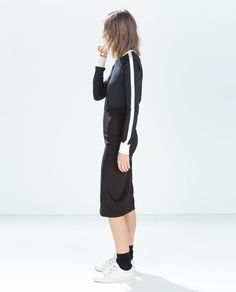 Image 3 of FITTED SKIRT WITH ELASTIC WAIST from Zara
