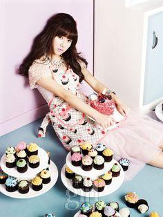 Korean actress Kim So-eun Vogue Girl Ping Wings Campaign Pink Sweets, Kim So Eun, Girl Korea, Girls Magazine, Pink Cupcakes, Korean Actresses, Barbie World, Korean Celebrities, Korean Fashion