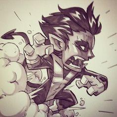 Nightcrawler, Xmen, Marvel, Heroes, Super Heroes, Cartoons, Drawing, Sketches, Doodles, Comics, Comic Con, Mini Hero, Super Hero,