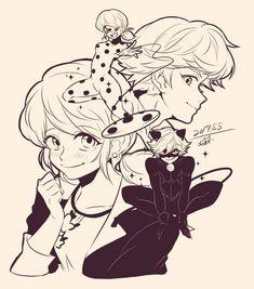 Comics Ladybug Art, Ladybug Comics, Couple Drawings, Disney Drawings, Undertale Dog, Adrien Y Marinette, Miraculous Ladybug Fan Art, Cat Noir, Animation