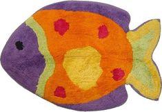 Fish Playground Colorful Fish Bathroom Rug Mat