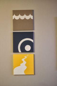 DIY ~ Personalized Artwork, Triathlon, Painting