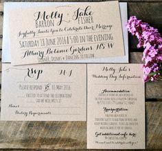 Rustic Wedding Invitations, Wedding Invitation Suite, Wedding Invitations…