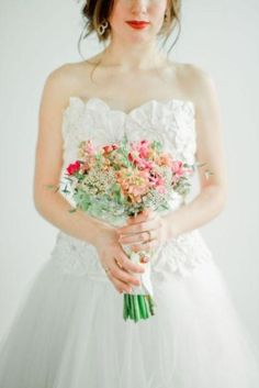 Weddbook is a content discovery engine mostly specialized on wedding concept. You can collect images, videos or articles you discovered  organize them, add your own ideas to your collections and share with other people | 30 Stunning Valentine\'s Day Wedding Bouquets