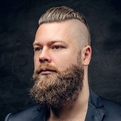 Disconnected Undercut + Slick Back Hair + Long Beard - Best Men's Hairstyles: Cool Haircuts For Men. Most Popular Short, Medium and Long Hairstyles For Guys Best Undercut Hairstyles, Cool Hairstyles For Men, Cool Haircuts, Haircuts For Men, Stylish Hairstyles, Asian Hairstyles, Popular Hairstyles, Hairstyles Haircuts, Hairstyle Ideas
