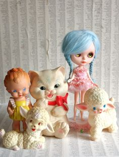 Vintage Squeaky Toys And Blythe