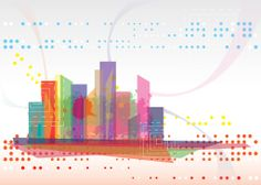 Modern Cityscape Vector Graphic - DryIcons
