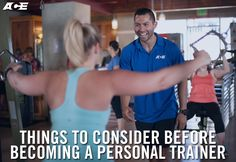 Are you thinking about becoming a personal trainer? Learn what the top pros in the industry have to say about the joys and challenges of being a personal trainer and what you need to know before pursuing a career. Heath And Fitness, You Fitness, Fitness Tips, Fitness Gear, Fitness Motivation, Health Fitness, Becoming A Personal Trainer, Certified Personal Trainer, Personal Training Courses