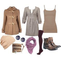 i especially love the dress and the toggle coat