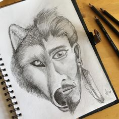 """""""Sketch for the day. Gotta love ❤️drawing on a Friday 🐺😊✏️#pencil #drawing #pencildrawing #wolf…"""""""