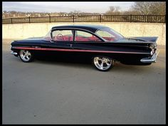 """59"""" Chevy Bel Air - Exactly like my first car (mine was blue). Love this car!"""