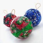 Mod Podge fabric ornaments – Christmas kids' craft.