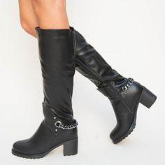 Cizme Marato Negre Boots, Heels, Fashion, Crotch Boots, Heel, Moda, Fashion Styles, Shoe Boot, High Heel