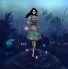 Alice under water by Tammoko.deviantart.com on @deviantART
