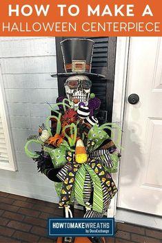 Halloween Centerpiece Tutorial - How to Make Wreaths - Wreath Making for Craftpreneurs