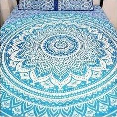 Indian Mandala Ombre Blue White Bohemian Boho Large Throw Bed Sheet Wall Hanging Tapestry Queen/double/kingsize -- Click image for more details. (This is an affiliate link and I receive a commission for the sales) Hippie Bedding, Indian Bedding, Bohemian Bedspread, Blue Tapestry, Mandala Tapestry, Tapestry Wall Hanging, Duvet Covers Uk, Queen Size Duvet Covers, Bed Covers