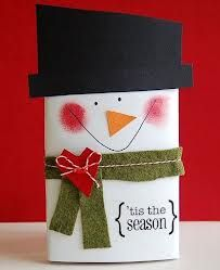 popcorn sneeuwman; origineel zie http://www.papercraftsconnection.com/blog/2010/12/groovin%E2%80%99-with-the-go-to-gals-christmas-gifts-for-the-time-challenged/