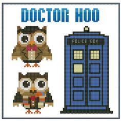 Dr Hoo Who Hooties Cross Stitch Pattern PDF Chart by PinoyStitch, $5.00
