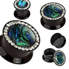 sweet abalone plugs at www.diirtybodyjewelry.com