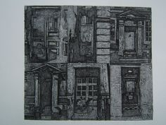 City Doors (Original Collagraph Hand Pulled Artist Print). $65.00, via Etsy. this looks more like an etching.