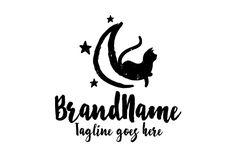 Logo for sale: Moon Cat Logo