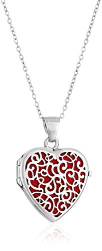 Sterling Silver Italian Heart with Freeform Design Red Locket Necklace, Best Jewellery Design, Latest Jewellery, Necklaces With Meaning, Girls Necklaces, Locket Necklace, Initial Necklace, Gems Jewelry, Women Jewelry, Fashion Necklace